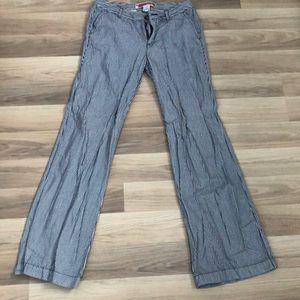 Gap trouser pant navy blue striped nautical
